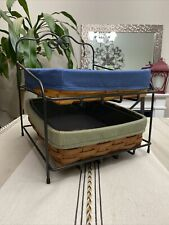 Longaberger Wrought Iron Foundry Paper Tray Stand Baskets combo