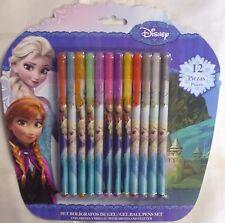 Disney Princess Frozen Pack of 12 Gel, Scented, Glittery Pen Set. Elsa Anna Olaf