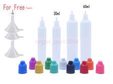 30ml 60ml Pen Shaped Dropper Bottle Precision Drip Tip Childproof Cap Plastic PE