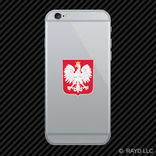 Polish Coat of Arms Cell Phone Sticker Mobile Poland flag POL PL