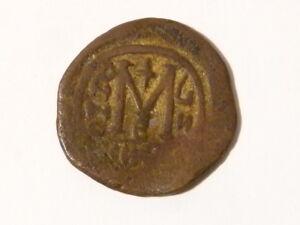 Antique Byzantine Tiberius Bronze Coin AD 582 - 602 #T42
