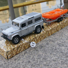 Land Rover Defender SUV + Trailer ferry Set Model Cars 1:32 Alloy Diecast Toys