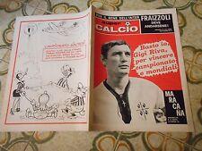 CALCIO RIVISTA SUPERCALCIO ANNO II NR3 POSTER  RIVA 20-1-1970 ENNA OMEGNA RIVERA