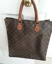 Louis Vuitton Auth Vintage Sac Plat Monogram Canvas Shopper Tote Handbag