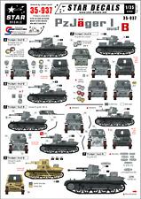 Star calcomanías, 35-937, calcomanía para pz-jager I Ausf B