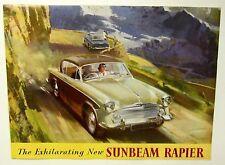 Vintage original SUNBEAM RAPIER BROCHURE Foldout Poster Catalog 1955 - 1957 car