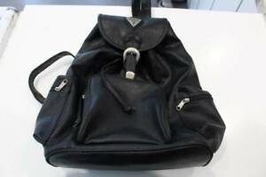 Guess Leather Backpack in Black-Very Good Condition