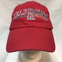 University Of Arizona Bear Down Football Stitched Baseball Cap Red Hat Adjusts
