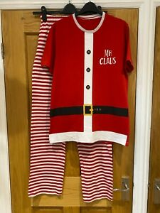 Mens Christmas Santa pyjamas ~ George ~ size S Small