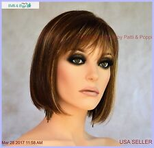 Riley by Riley Designer Synthetic Hair Medium Length Bob Wig *Color Caramel Kiss