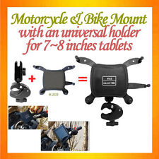 C-shaped C-Clamp Mount Motorcycle Mount+Universal Holder about 7~8inches Tablets