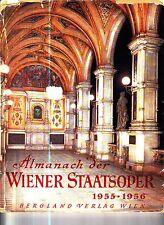 Almanach der Wiener Staatsoper 1955-1956 Vienna State Opera Book Old Ads