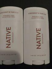 Native deodorant coconut vanilla 2.65oz X2