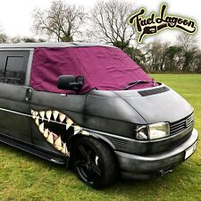 T4 Screen Cover Black Out Blind Curtain Window Wrap VW Van Frost Purple