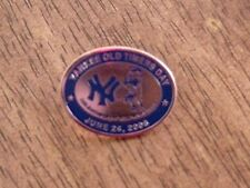 YANKEES OLD TIMERS DAY PIN LARSEN BERRA WORLD SERIES PERFECT GAME STILL CARDED