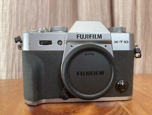 Fujifilm Fuji X-T10 Camera Body Only Silver