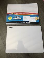2x Dry Erase Board Double Sided Works With Dry erase Markers And Crayons 🖍9x12'