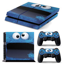 PS4 PlayStation 4 Skin Stickers PVC for Console & 2 Pads ***Cookie Monster