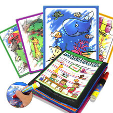Kids Magic Water Drawing Book Pen Coloring Book Animals Painting Children Toy
