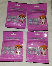 Disney Pins  World Of Evil (4) Pin Mystery Packs 20 Pins SEALED