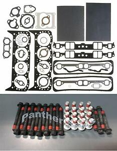 Mahle Head Gasket Set & Bolts Mercruiser Marine Chevy 350 5.7 w/center bolt