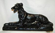 Vintage Plaster Ceramic Borzoi Russian Wolfhound Dog Figurine Statue ~ Numbered