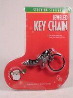 NEW Jeweled High Heel Shoe Key Chain Keychain - Great Stocking Stuffer!  NEW