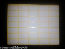 Über 1000 Klebeetiketten ca. 25x12mm Weiß Etiketten selbstklebend Etikett kleben