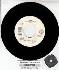 "R.E.M. (REM)  Strange Currencies  45 7"" record + juke box title strip NEW RARE!"