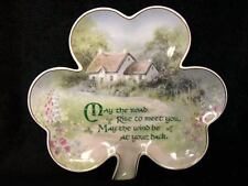 FRANKLIN MINT IRISH BLESSING PLATE LUCKY SHAMROCK 'ROAD RISE UP' LIMITED EDITION