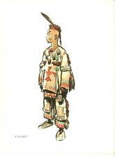 Carte Pierre Joubert 1958 Jeune Huron Indien non scout non Signe de Piste
