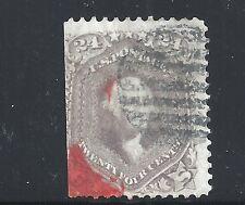 Scott #78, Single 1862 George Washington 24c AVG Used