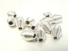 15 x 12mm Silver Plated Spring Coil Spacer Beads Craft Findings FREE UK P+P P120