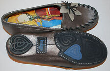 New Womens Indigo by Clarks Shoes Loafers size 6.5 Flower  Pewter