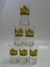1970s Limestone Distillery Whiskey Glass Bar 6 VTG Glasses Lime Stone Louisville