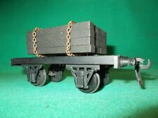 BASSETT LOWKE O Gauge SPECIAL LOAD WAGON with SLEEPER LOAD Excellent + Gauge 0