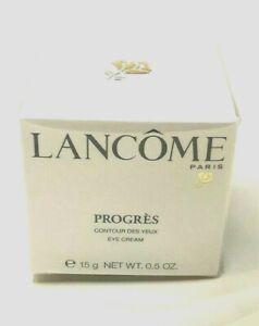 LANCOME PARIS PROGRES EYE CREAM 0.5 oz.  BRAND NEW IN BOX.  FREE SHIPPING