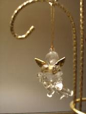 New listing Clear acrylic cherub angel ornament gold wings drum New