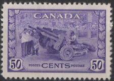 g627) Canada. 1942/48. MM. SG 387 50c Violet War Effort. Artillery. c£26+