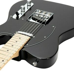 Glarry GTL Maple Fingerboard Electric Guitar BLACK with Gig Bag