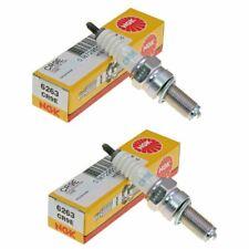 Genuine NGK 6263 Spark Plugs Pack of 2 Benelli Velvet 400 LC Dusk 2003