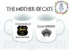 Game of Thrones Personalised, mug Gift ideas, Birthday gift, Cat Lovers, fun mug