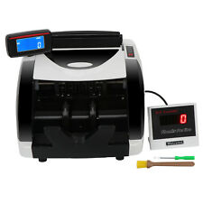 New Money Bill Counter Counting Machine Counterfeit Detector Uv Amp Mg Cash Bank