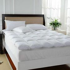 Duck Feather & Down Mattress Topper 5 CM Thick & Pillows (Cotbed-SS-S-SD-D-K-SK