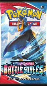 POKEMON Sword & Shield Battle Styles - Booster packet (10 cards) FREE SHIPPING