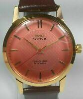 Vintage Hmt Sona Mechanical Hand Winding Movement Mens Analog Wrist Watch C3