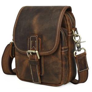 Men Real Leather Waist Bum Belt Bag Fanny Pack Messenger Bag Work Shoulder Bag
