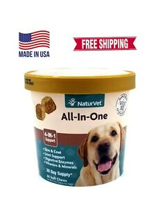 NaturVet All In One 60 Chews FREE SHIPPING