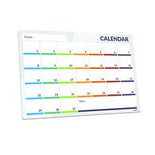 CKB Ltd Calendar 31 Day Magnetic Fridge Board With Marker White & Pen