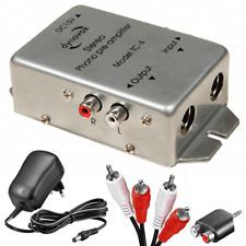 Phono Vorverstärker PreAmp Entzerrer für Plattenspieler + Kabel Adapter Netzteil